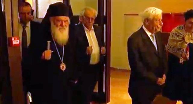 Ιερωνυμος Παυλοπουλος εισοδος μουσειου Θηβας